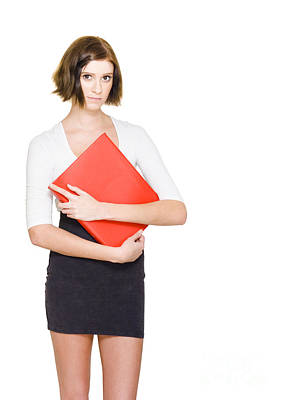 Business Woman On Her First Day At A New Job Art Print by Jorgo Photography - Wall Art Gallery