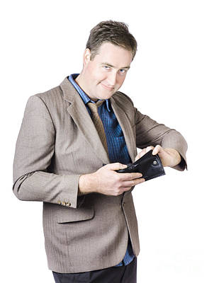 Earnings Photograph - Businessman Holding Wallet by Jorgo Photography - Wall Art Gallery