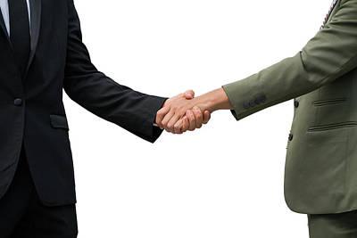 Photograph - Businessman Shake Hand Togather by Anek Suwannaphoom