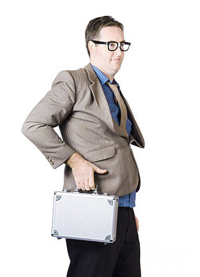 Businessman With Silver Briefcase Art Print