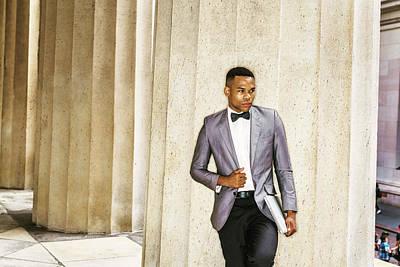 Photograph - Black Businessman by Alexander Image