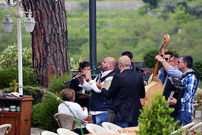 Photograph - Busker Band In Ravello - Take Three by Harvey Barrison