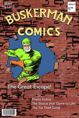 Digital Art - Buskerman Comics by John Haldane