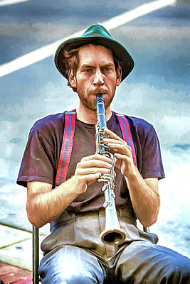 Photograph - Busking By Clarinet by John Haldane