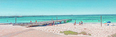 Photograph - Busselton Jetty Beach, Western Australia by Elaine Teague