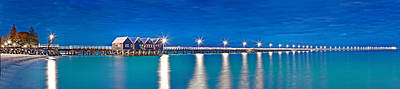 Busselton Jetty Full Length Panorama Art Print by Az Jackson