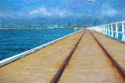 Photograph - Busselton Jetty Train Tracks by Michelle Wrighton