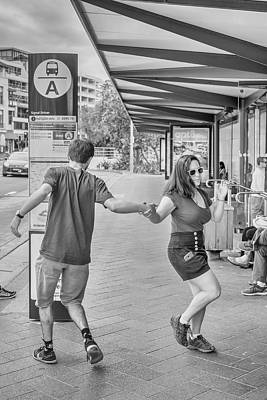 Busstop Photograph - Busstop Boogie No 2 by Paul Donohoe