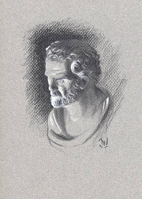 Art Print featuring the drawing Bust 473 by Joe Winkler