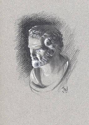 Drawing - Bust 472 by Joe Winkler