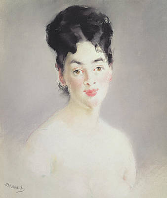 Impressionism Pastel Painting - Bust Of A Young Female Nude by Edouard Manet