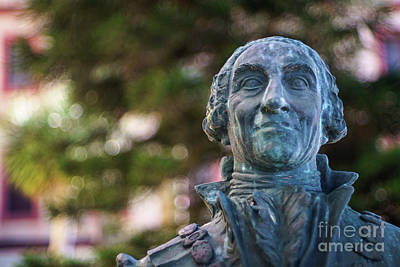 Photograph - Bust Of Charles 3rd Of Spain Alameda Apodaca Cadiz Spain  by Pablo Avanzini