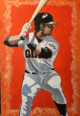 Buster Posey Painting - Buster by Dave Medin