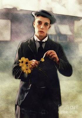 Musician Royalty-Free and Rights-Managed Images - Buster Keaton, Comedian by John Springfield