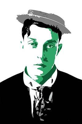Silent Digital Art - Buster Keaton by DB Artist