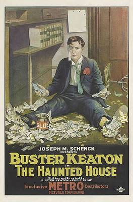 Buster Keaton In The Haunted House 1921 Art Print by Mountain Dreams