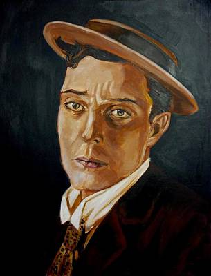 Art Print featuring the painting Buster Keaton Tribute by Bryan Bustard