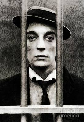 Musicians Royalty Free Images - Buster Keaton, Vintage Actor Royalty-Free Image by John Springfield