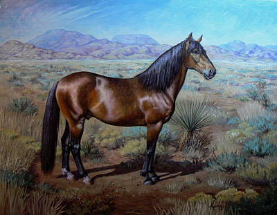 Kerry Nelson Painting - Buster by Kerry Nelson