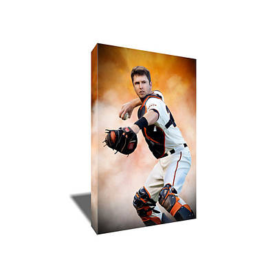 Buster Posey Painting - Buster Posey Canvas Art by Artwrench Dotcom