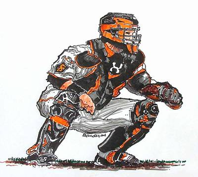 Buster Posey Art Print by Terry Banderas