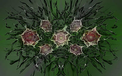 Giftideas Digital Art - Bustled Bouquet by Andy Young