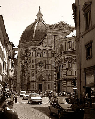 Photograph - Bustling Firenze by Steven Myers