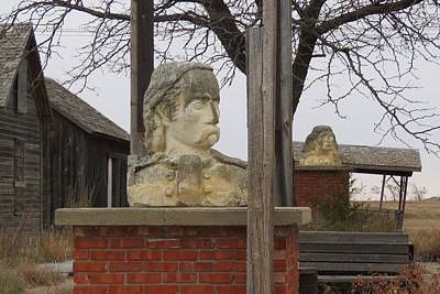 Photograph - Busts In Frontier City by Keith Stokes