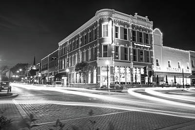 Walmart Photograph - Busy Around Bentonville In Black And White- Northwest Arkansas by Gregory Ballos
