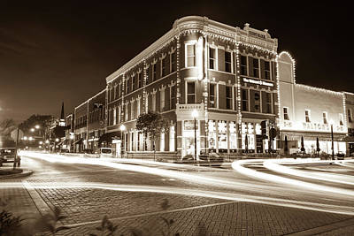 Photograph - Busy Around Bentonville - Northwest Arkansas In Sepia by Gregory Ballos