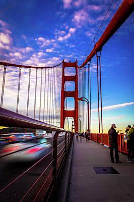 Tour Bus San Francisco Photograph - Busy Bay Bridge by Phil Fitzgerald