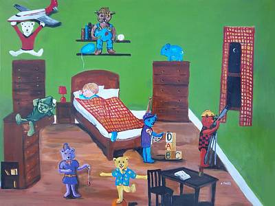 Painting - Busy Bears by Aleta Parks