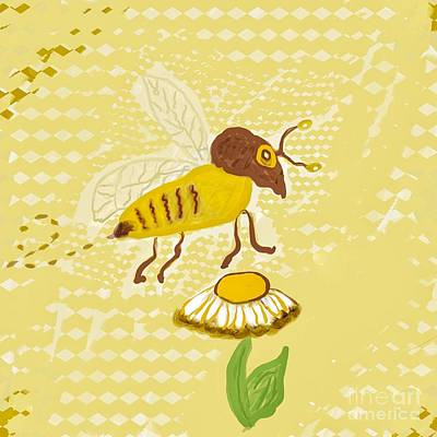Photograph - Busy Bee Flight Illustration  by Susan Garren
