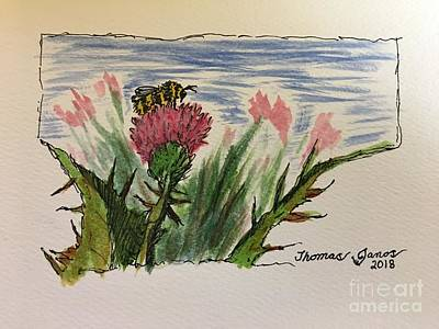 Painting - Busy Bumblebee  by Thomas Janos