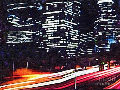 Busy City At Night Art Print by Deborah MacQuarrie-Selib