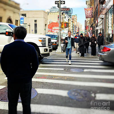 Crosswalk Photograph - Busy City by HD Connelly