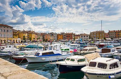 Urban Scenes Mixed Media - Busy Day On Marina by Svetlana Sewell