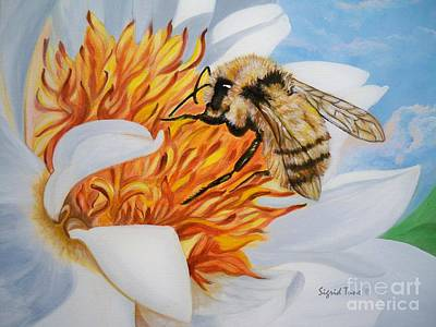 Painting - Chloe The    Flying Lamb Productions          Busy Little Bee by Sigrid Tune