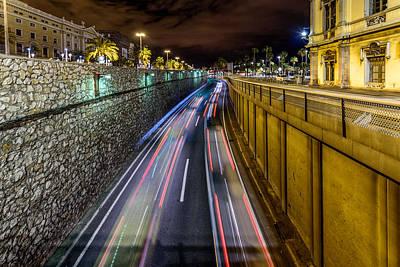 Photograph - Busy Night In Barcelona by Randy Scherkenbach
