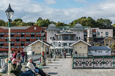 Photograph - Busy On The Pier 1 by Steve Purnell