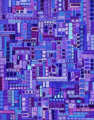 Painting - Busy Purple by Donna Howard