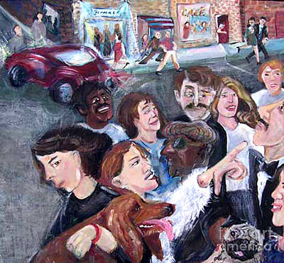 Painting - Busy Street With People by Barbara Yalof