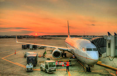 Airlines Photograph - Busy Sunset by JC Findley