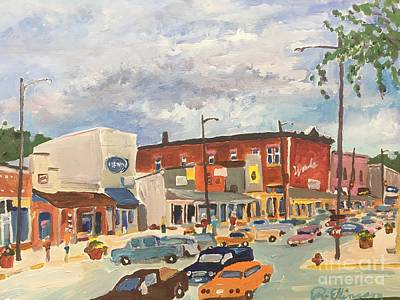 Painting - Busy Town by Rodger Ellingson