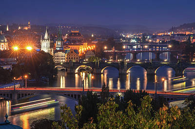 Photograph - Busy Traffic On Vltava River. Prague by Jenny Rainbow
