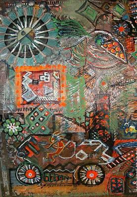 Busy Wheels And Things Art Print by Anne-Elizabeth Whiteway