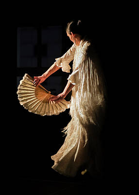 Flamenco Mixed Media - Marta Robles - In The Light... by Elzbieta Petryka