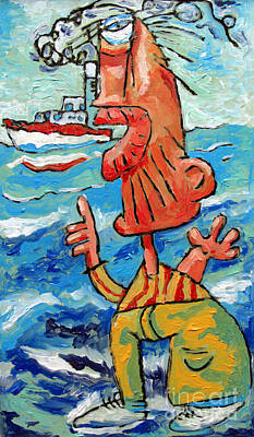 Dream Big Painting - But That Was My Boat by Charlie Spear