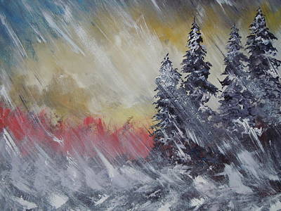 Extreme Weather Painting - But The Weather Man Said.... by Dan Whittemore