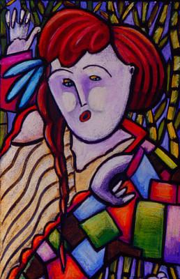 Butah Dancer Wearing Quilot Art Print by Angelina Marino
